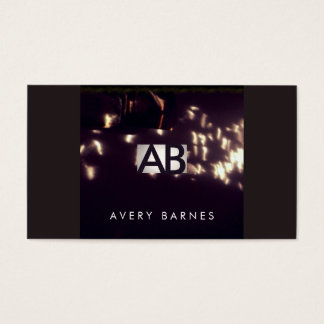 Cool Unique Artistic Abstract Monogram Add Photo Business Card