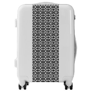 Cool Unique Black and White Pattern Luggage
