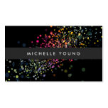 COOL & UNIQUE BLACK CONFETTI Double-Sided STANDARD BUSINESS CARDS (Pack OF 100)