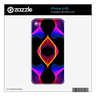 Cool Unique Blue Pink Purple Fluorescent Abstract iPhone 4 Decals