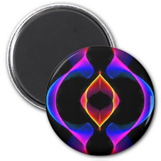 Cool Unique Blue Pink Purple Fluorescent Abstract Magnet