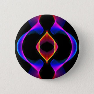 Cool Unique Blue Pink Purple Fluorescent Abstract Pinback Button