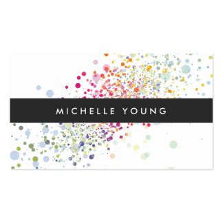 COOL & UNIQUE COLORFUL CONFETTI Double-Sided STANDARD BUSINESS CARDS (Pack OF 100)