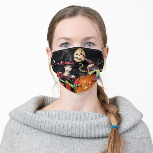 Cool Unique Halloween Witch Art Cloth Face Mask