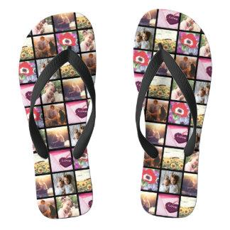 Cool Unique Personalized pictures Flip Flops