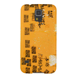 Cool Urban Asian Unique Wall Art Yellow Galaxy S5 Case