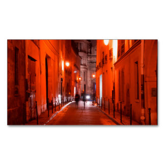 Cool, urban, modern photo of Parisian lifestyle Business Card Magnet