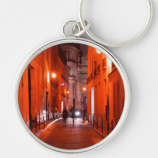 Cool, urban, modern photo of Parisian lifestyle Keychain