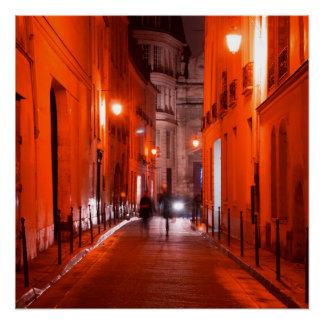 Cool, urban, modern photo of Parisian lifestyle Poster