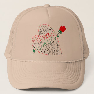 Cool valentine shirt with text in french trucker hat