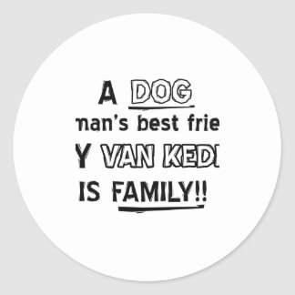 Cool VAN KEDISI designs Classic Round Sticker