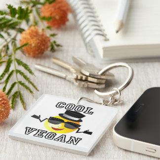 Cool Vegan Emoji Keychain