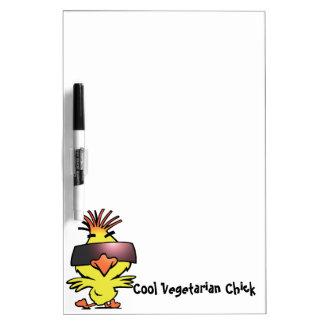 Cool Vegetarian Chick Dry Erase Board