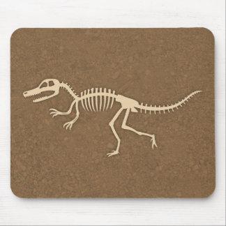 Cool Velociraptor Dinosaur Bones and Skeleton Mouse Pad