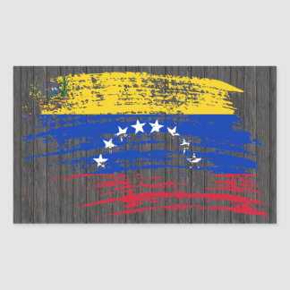 Cool Venezuelan flag design Rectangular Sticker