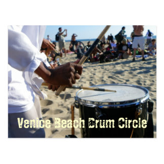 Cool Venice Beach Drum Circle Postcard
