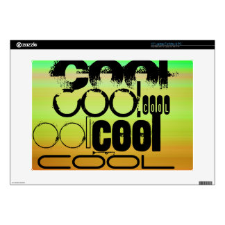 """Cool; Vibrant Green, Orange, & Yellow Decal For 15"""" Laptop"""