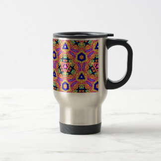 Cool Vibrant Pastel Festive Pattern Travel Mug