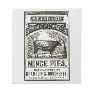 Cool Victorian Meat Pie Advert Notepads