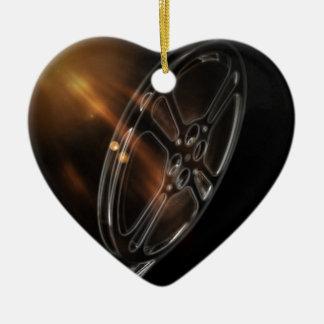 Cool Video Film Production Movie Reel Ceramic Ornament