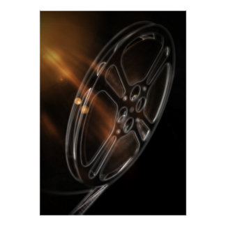 Cool Video Film Production Movie Reel Poster