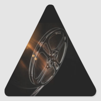 Cool Video Film Production Movie Reel Triangle Sticker