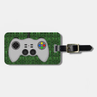 Cool Video Game Controller Vector in Grey Bag Tag