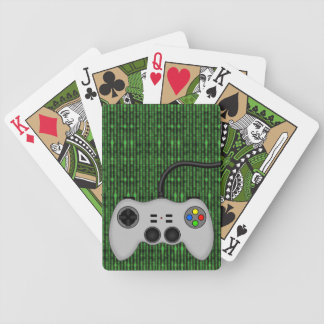 Cool Video Game Controller Vector in Grey Bicycle Playing Cards