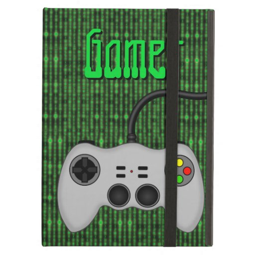 Cool Video Game Controller Vector in Grey iPad Cases