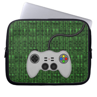 Cool Video Game Controller Vector in Grey Laptop Sleeve