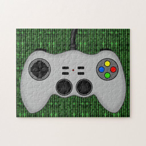 Cool Video Game Controller Vector in Grey Jigsaw Puzzles