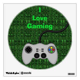 Cool Video Game Controller Vector in Grey Wall Decor