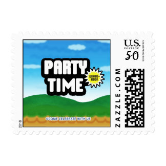 Cool Video Gamer Birthday Party postage