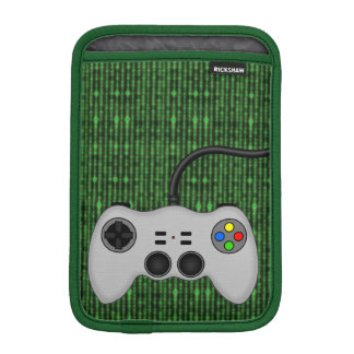 Cool Video Gamers Controller on Computer Code iPad Mini Sleeves