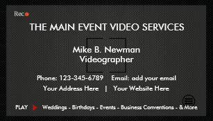 Videography business cards zazzle cool videographer business cards colourmoves