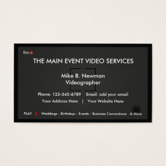 Cool Videographer Business Cards
