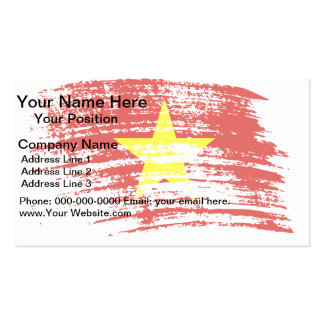 Cool Vietnamese flag design Double-Sided Standard Business Cards (Pack Of 100)