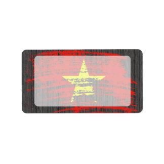 Cool Vietnamese flag design Address Label