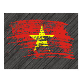 Cool Vietnamese flag design Postcard