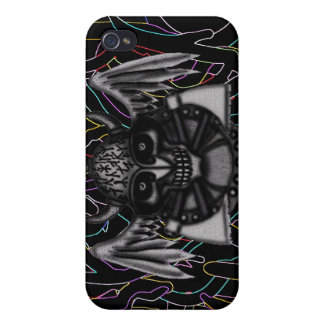 Cool viking skull graphic art iphone case design iPhone 4/4S cases