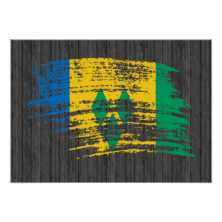 Cool Vincentian flag design Print