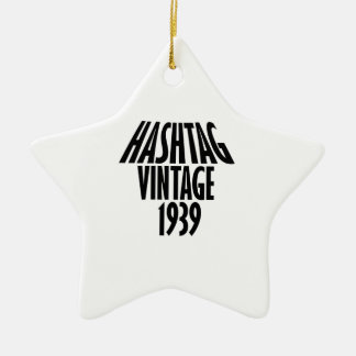 cool Vintage 1939 design Ceramic Ornament