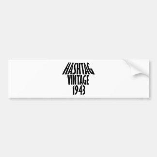 cool Vintage 1943 design Bumper Sticker