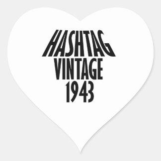 cool Vintage 1943 design Heart Sticker