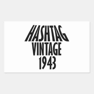 cool Vintage 1943 design Rectangular Sticker