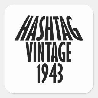 cool Vintage 1943 design Square Sticker