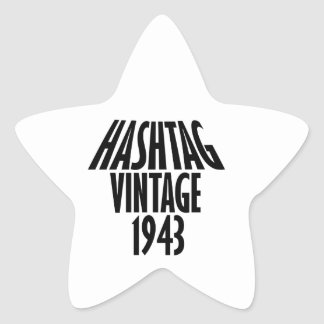 cool Vintage 1943 design Star Sticker