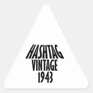 cool Vintage 1943 design Triangle Sticker