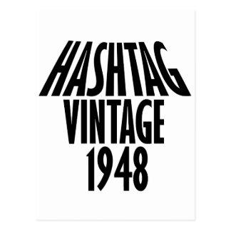 cool Vintage 1948 design Postcard