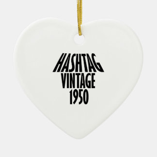 cool Vintage 1950 design Ceramic Ornament